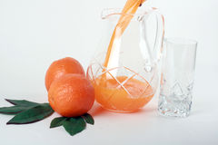 Orange and juice. Royalty Free Stock Image