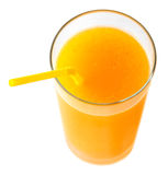 Orange juice, top view royalty free stock images