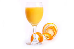 Orange with juice Stock Images