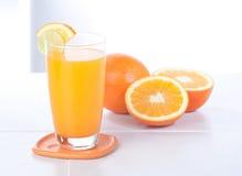 Fresh orange juice isolated  Royalty Free Stock Photos