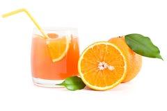 Orange juice. Glass of orange juice isolated on white Royalty Free Stock Image