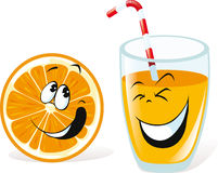 Orange and juice Royalty Free Stock Photos
