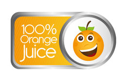 Orange juice. Tag isolated over white background. vector Vector Illustration