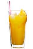 Orange juice. Glass of orange juice isolated on white Royalty Free Stock Photos