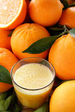 Orange juice. Fruit composition whit yellow orange juice Stock Photos