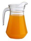 Orange juice. Pitcher on white background Stock Images