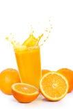 Orange  juice. Orange juice and orange fruits Royalty Free Stock Images