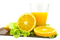 Orange juice. Fresh orange juice isolated on white,Concept ror healthy lifestyle Stock Photography