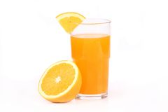 Orange juice. Studio shot  on white Stock Photography