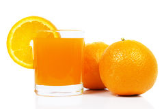 Orange juice. White background - isolated Stock Photography