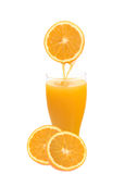 Orange juice. Real orange juice made with fresh oranges royalty free stock photo