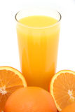 Orange Juice. Freshly squeezed orange juice composition royalty free stock images
