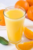 Orange Juice. A glass of fresh orange juice royalty free stock photo