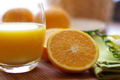 Orange  and juice Royalty Free Stock Photography