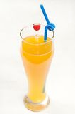 Orange juice. On white paper Stock Photography