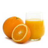 Orange juice. Fresh orange juice in a glass Stock Photo