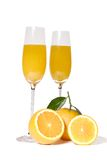 Orange juice. Eating oranges and driniking juice more is good for your health Stock Photography