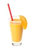 Orange juice. With slice of fruit Royalty Free Stock Photos