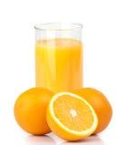 Orange Juice And Slices Of Orange Stock Photo