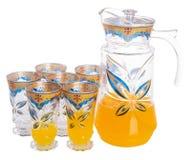 Orange juice on a background Stock Photography