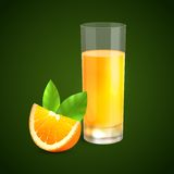Orange juice background vector illustration
