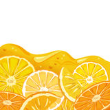 Orange juice background Royalty Free Stock Photo