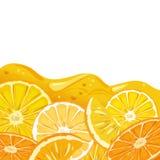 Orange juice background. Vector illustration Royalty Free Stock Photo