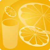 Orange juice beverage panel Royalty Free Stock Image