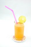 Orange juice blended with seaweed. For healthy Royalty Free Stock Images