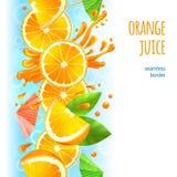 Orange juice border stock illustration