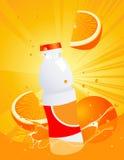Orange Juice Bottle Stock Photo