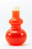 Orange juice in bottle Royalty Free Stock Images