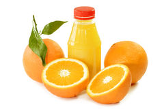 Orange Juice in a Bottle Royalty Free Stock Photos