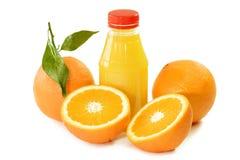 Orange Juice in a Bottle Royalty Free Stock Photos