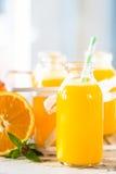 Orange juice bottle Stock Image