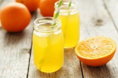 Orange juice in bottle Royalty Free Stock Photo