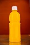 Orange juice bottle Isolated on background Stock Images