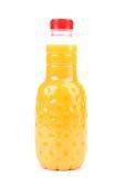 Orange juice in bottle. Stock Photography