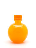Orange juice in bottle  Royalty Free Stock Photo