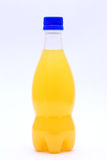 Orange juice in a bottle Stock Photography