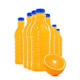 Orange juice bottles Stock Image