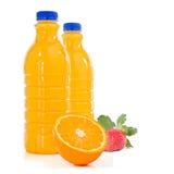 Orange Juice Bottles Stock Photos