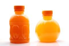 Orange Juice Bottles Stock Photo