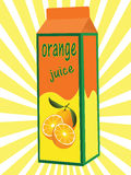 Orange juice box Stock Photography