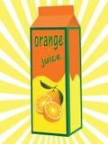 Orange Juice Box Stock Photography