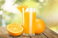 Orange Juice. Juice Orange Breakfast Fruit Glass Freshness Stock Photo