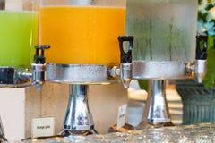 Orange juice buffet Stock Images