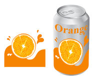Orange juice can Stock Photos