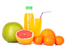 Orange juice and  citrus fruits Stock Photo
