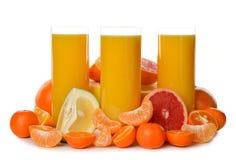 Orange juice with citrus Stock Photography
